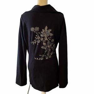 Lucky Brand Floral Embroidered Wrap Jacket XL